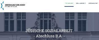 Neues Studienprogramm `Jüdische Soziale Arbeit´
