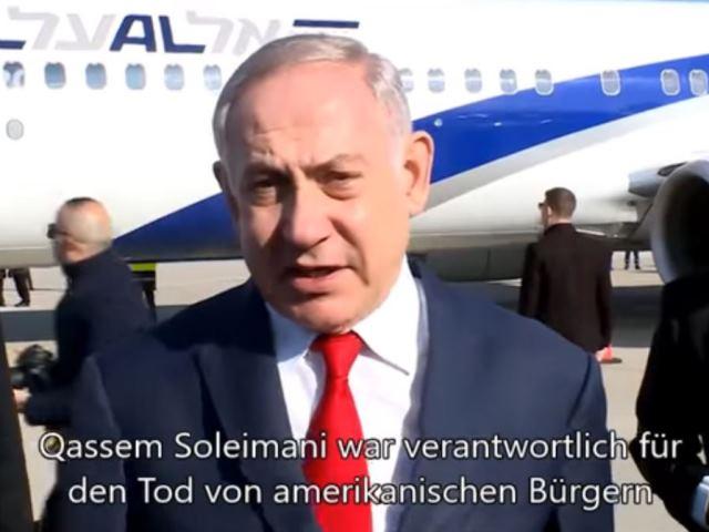 Premier Netanyahu zur Tötung von Qassem Soleimani