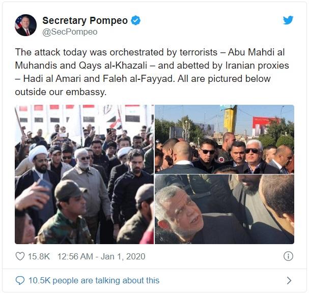 `Friedliche Demonstranten im Irak nicht mit von Iran unterstützten Terroristen verwechseln ´