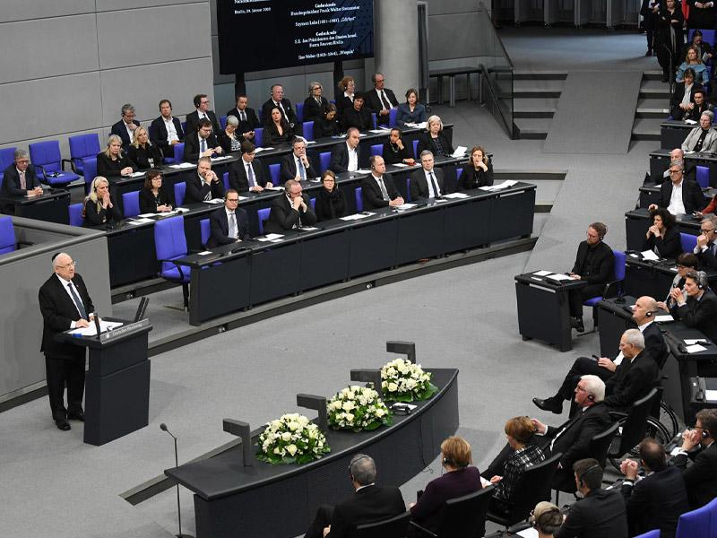 Rede von Staatspräsident Rivlin im Bundestag