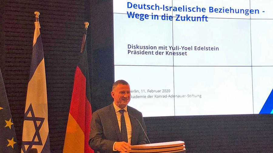 Knessetpräsident Edelstein in Berlin