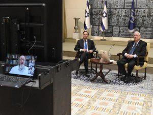 Präsident Rivlin spricht mit führenden jüdischen Vertretern aus der ganzen Welt