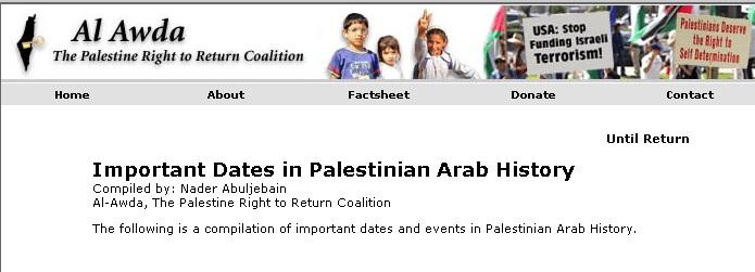 Auch für die Palästinenser selbst beginnt ihre Geschichte erst mit dem Zionismus