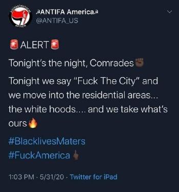 """Twitter sperrt """"Antifa America"""""""