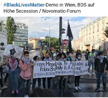 Foto des Tages: Mit #BlackLivesMattrer gegen#Israel