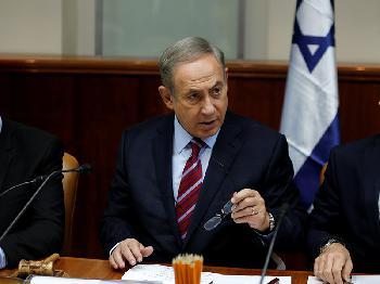 Premier Netanyahu bei der Kabinettssitzung am 7.6.