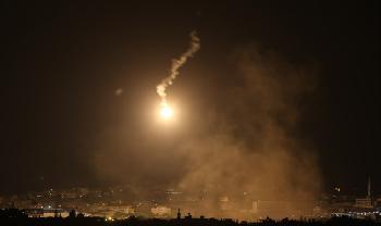 Samstagabend wurden zwei Raketen aus Gaza abgefeuert, die IDF reagierte