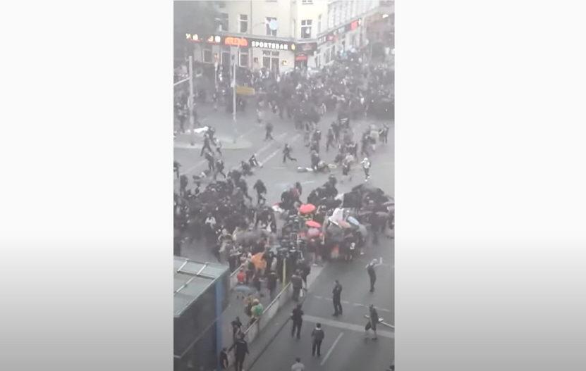 Berliner Bürgerkriegsnacht: Linksextreme Ausschreitungen gegen die Polizei