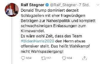 Eine fragwürdige Aussage von Ralf Stegner