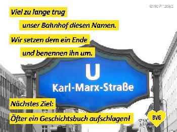 """Die überfällige Umbenennung der U-Bahnstation """"Karl-Marx-Straße"""""""