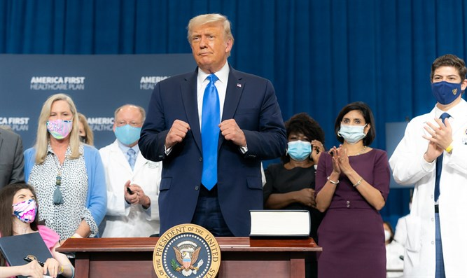Trump zum Walter Reed Military Medical Center gebracht