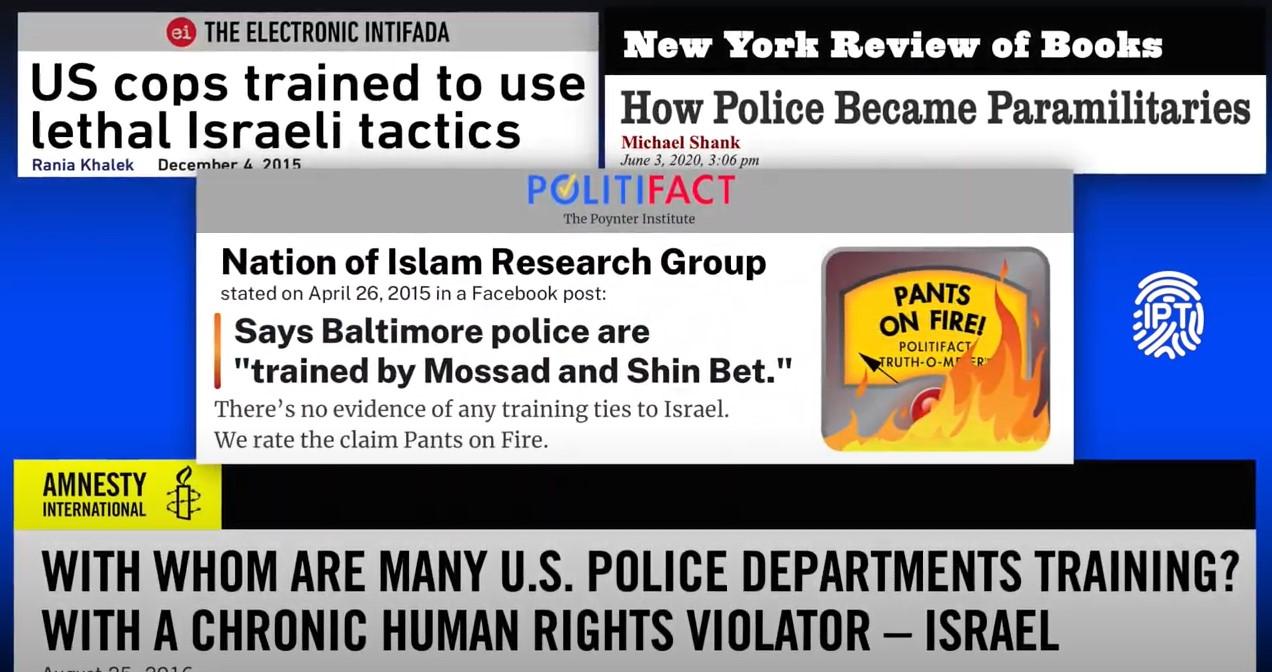 Film widerlegt Behauptungen, dass US-Polizisten in Israel Repression lernen würden [VIDEO]