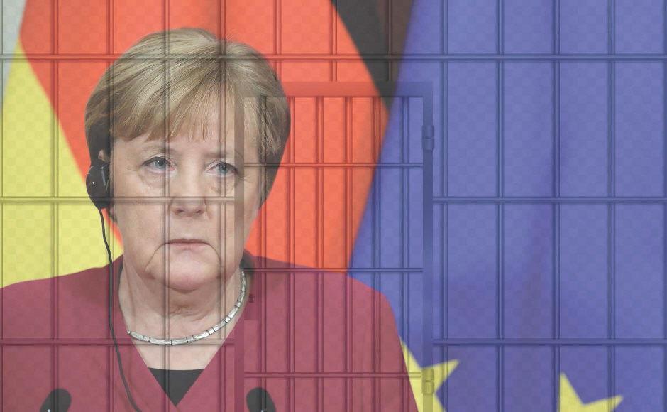 Corona-Knast Deutschland: Gefängnisdirektor Merkel verschärft heute den Hofgang