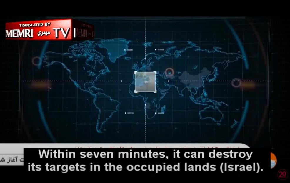 Das iranische Fernsehen im iranischen Arsenal für ballistische Raketen, sagt der Erzähler: Raketen für Israel [Video]