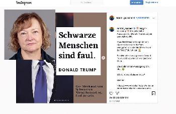 LINKE-MdB Kerstin Kassner: Fakenews und Hass gegen Donald Trump auf Instagram