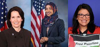 US-Politikerinnen mit Sympathisanten des Terrors auf Anti-Israel-Konferenz