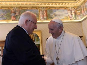 Präsident Rivlin sprach mit Papst Franziskus
