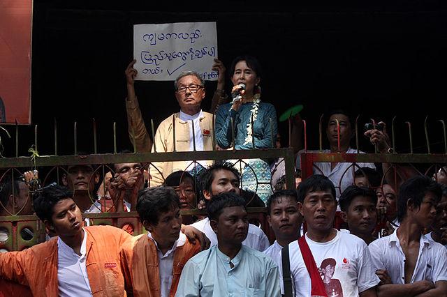 Myanmar Politiker vom Militär festgenommen