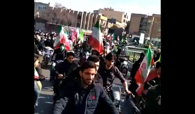 """""""Tod-für-Rohani""""-Rufe am Jahrestag der iranischen Revolution"""