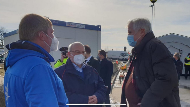 DPolG Spitze besucht Bundespolizei an Grenzübergang