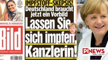 """[Foto des Tages] """"dLassen Sie sich impfen, Frau Kanzlerin!"""""""