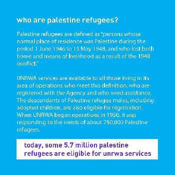 """UNRWA widerspricht sich selbst dazu, was ein """"Flüchtling"""" ist – auf einem einzigen Bild"""