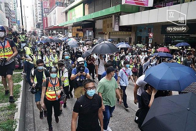 Demonstrationen in Hongkong gegen Verfolgung von Demokratie-Aktivisten