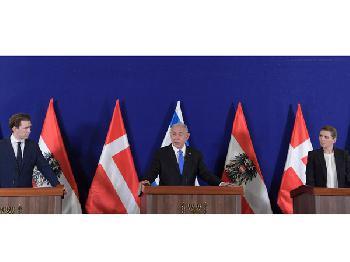 Regierungschefs v. Dänemark & Österreich in Israel