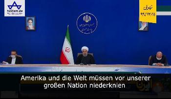 """Präsident Rohani: """"Die USA und die Welt müssen vor dem Iran niederknien"""" [Video]"""