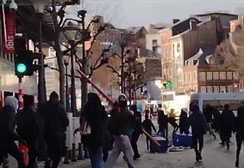 Lttich-Covidioten-retten-Polizisten-vor-dem-Lynchmob-antirassistischer-BLMGewalttter-Video