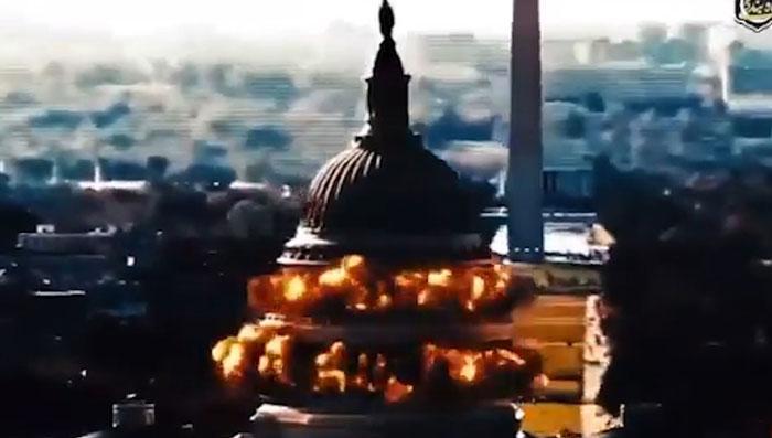 Video der Iranischen Revolutionsgarden zeigt Bombardierung des US-Kapitols [Video]