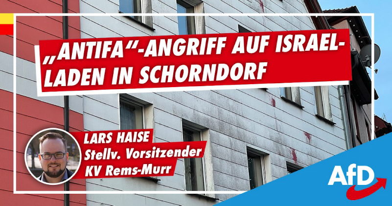 Antifa greift Israel-Laden an