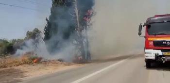 Raketen-und-Brandbalons-aus-Gaza-von-der-Terroroganisation-Hamas--abgefeuert-Video