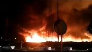 Iran-Grobrand-nahe-des-Atomkraftwerks-Bushehr-Video