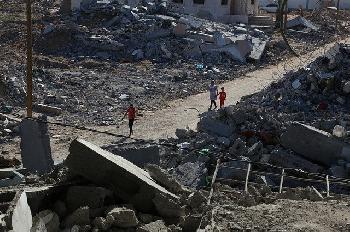 IDF-zerstrt-GazaHochhaus-in-dem-der-militrische-Geheimdienst-der-Hamas-und-die--Medienbros-untergebracht-sind