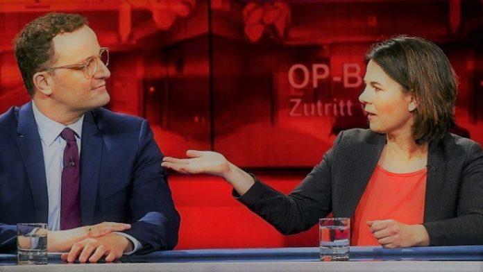 """Baerbock und Spahn, Spitzenprodukte aus Merkels Kollektion """"Herrschaft der Unfähigen"""""""