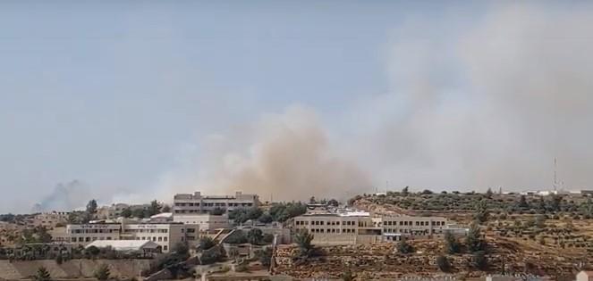 südlich von Jerusalem ist ein Buschfeuer außer Kontrolle geraten [Video]