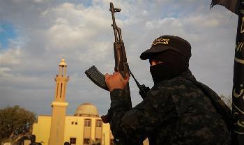 Islamischer-Dschihad-prsentiert-Tragbare-Raketenwerfer