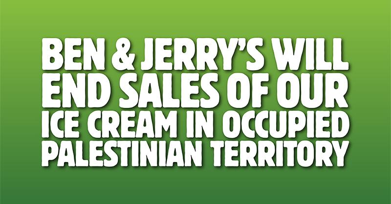 """""""Ben & Jerry's"""" boykottiert Juden in Judäa und Samaria"""