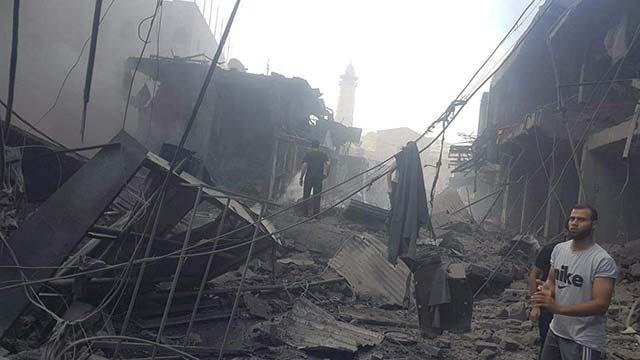 Explosion in Gaza-Stadt
