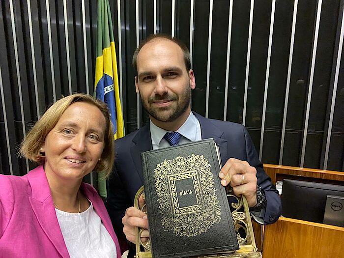 Beatrix von Storch trifft Eduardo Bolsonaro In Brasilien