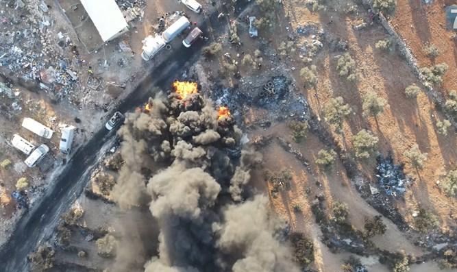 Brandbomben in Evyatar