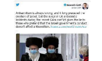 Aufruf zum Rücktritt von Human Rights Watch Chef nach einem Tweet, in dem Israel Antisemitismus vorgeworfen wird