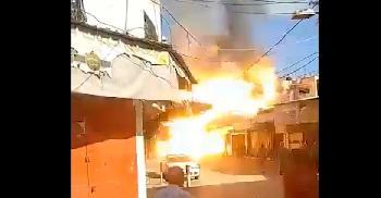 Dies-hat-eine-mysterise-Explosion-in-GazaStadt-verursacht-Video