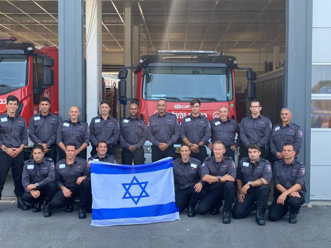 Israels  Feuerwehr hilft bei Bränden in Griechenland