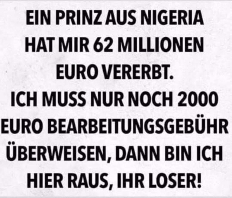 Hurra: Das Glück kommt aus Nigeria