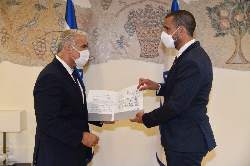Außenminister Lapid trifft Bahrains Botschafter