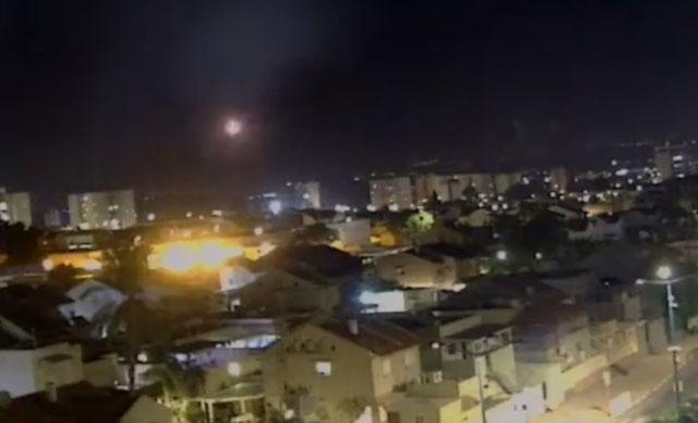 Eine Rakete über Südisrael abgefangen