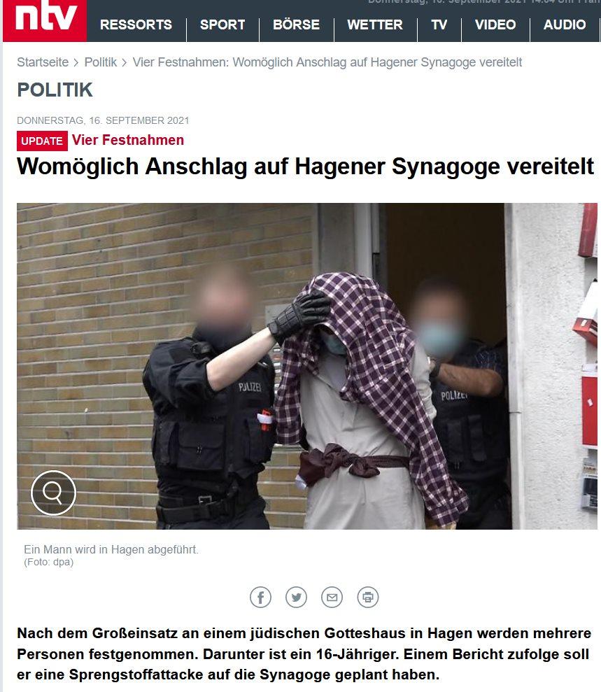 Anschlagsversuch auf Synagoge in Hagen - gibt es Lehren?