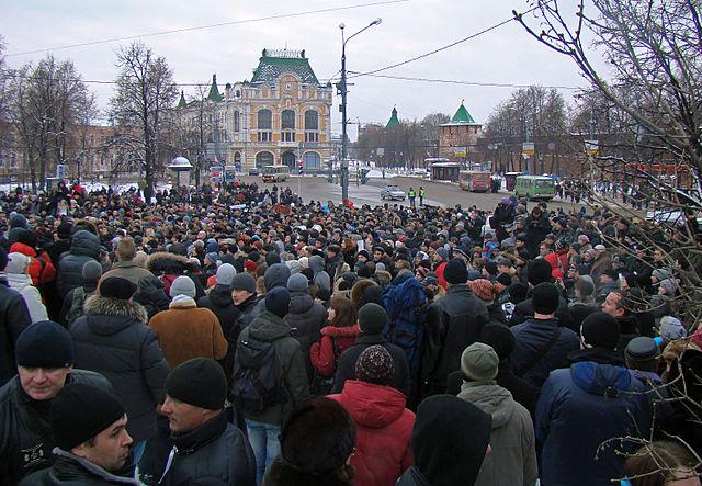Proteste gegen Wahlbetrug in Moskau